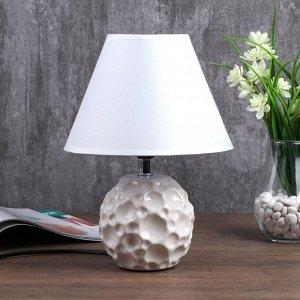 """Лампа настольная """"Монтела"""" 1x40Вт E14 белый 20х20х34 см."""