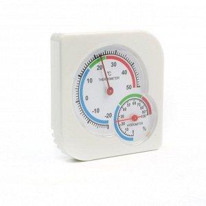 Термометр уличный. гигрометр. белый