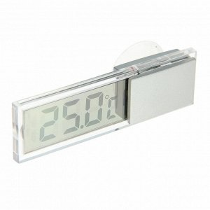 Термометр LuazON LTR-17. электронный. на присоске. прозрачный