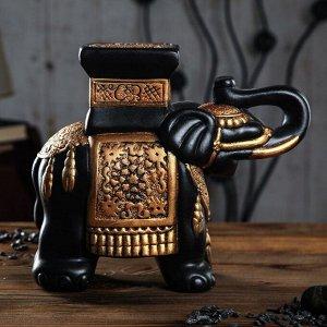 """Подставка декоративная """"Индийский слон"""", золотистая, 27 см"""