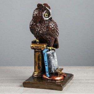 "Сувенир ""Сова на колонне"", рисованная, 27 см, микс"