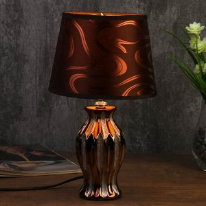 Лампа настольная 7555089TL/1 E14 40Вт золотистое кофе 17х17х29.5 см