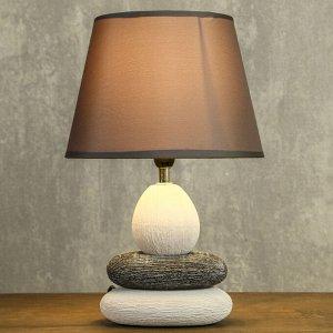 """Лампа настольная керамика Е14 40Вт 220В """"Сад камней: чистота"""" 34.5х22.5х22.5 см"""