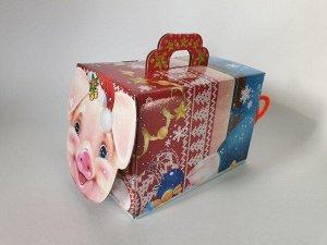 Упаковка для новогоднего подарка Веселый поросёнок