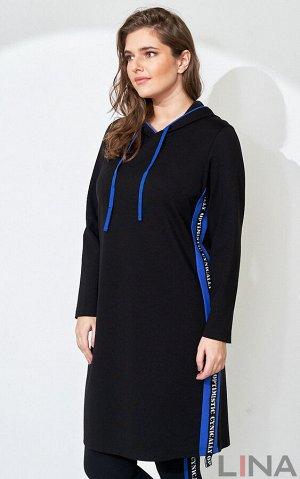 Платье Длина: 97 см Состав: вискоза 68%, нейлон 27%, спандекс 5% Цвет: черный/красный, черый/всилек, , красный, василек