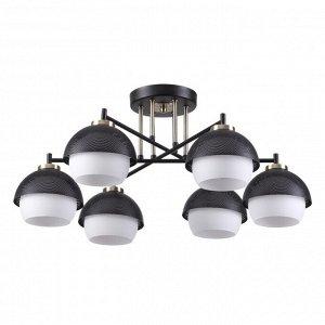 4456/6C COMFI LN20 099 черный, бронза, белый Люстра потолочная E27 6*60W 220V JADE