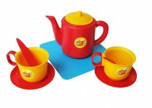 Пластмастер. Набор чашек с чайником арт.21002 /35