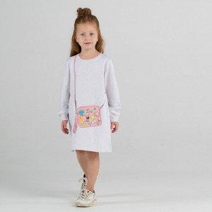 Платье для девочки, бежевый меланж
