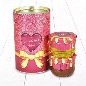 """Подарочный Набор """"Тубус С Любовью липовый и дягилевый мёд"""" Для любимых"""