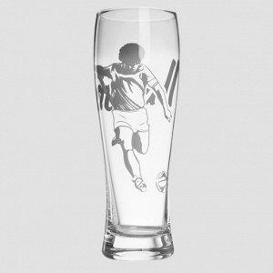 Набор из 2 пивных стаканов по 330 мл с футбольной тематикой