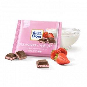 Шоколад Риттер Спорт Клубника с Йогуртом 100 г