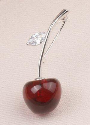 Брошь Обалденные вишни. Как настоящие!  4,5*1,7см