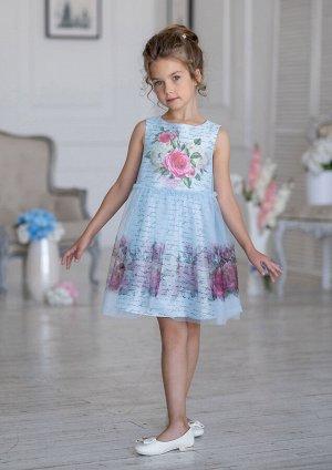 Делиз нарядное платье голубой