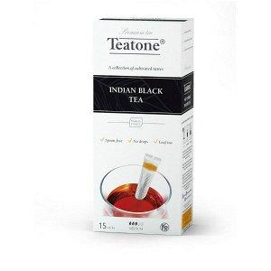 Черный чай Индийский TEATONE в стиках (15 стиков по 1,8г)