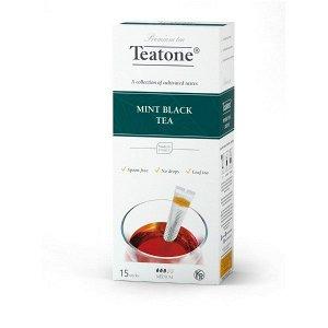 Черный чай Аромат мяты TEATONE в стиках (15шт*1,8г), 744