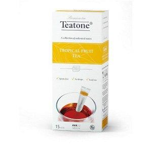 Черный чай Аромат тропических фруктов TEATONE в стиках (15шт*1,8г), 616