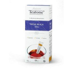 Черный чай Аромат чабреца TEATONE в стиках (15шт*1,8г), 745