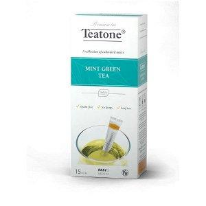 Зеленый чай Аромат мяты TEATONE в стиках (15шт*1,8г), 738