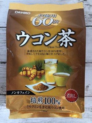 Orihiro Чай куркума 60 пакетиков