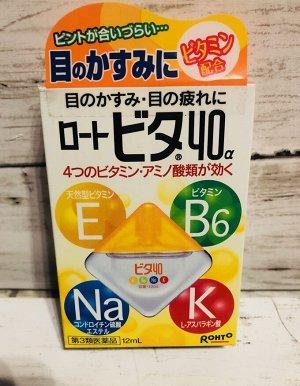 Rohto vita 40a - мягкие капли с 4-мя витаминами и аминокислотами