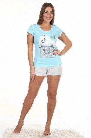 Пижама женская Пушистик (шорты) (кулирка)