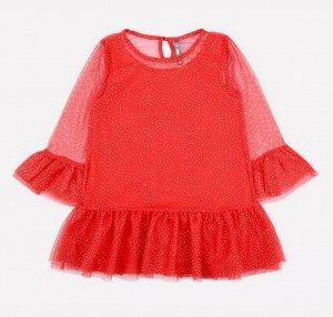 Платье для девочки Crockid К 5578 насыщенно-красный
