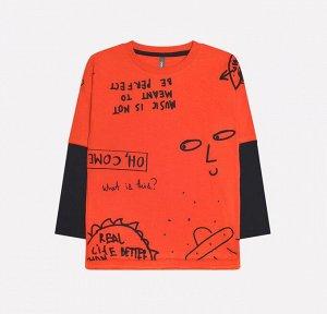 Джемпер для мальчика Crockid КР 300813 кирпично-оранжевый к228