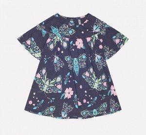 Платье для девочки Crockid КР 5558 темно-серый, магические бабочки к221