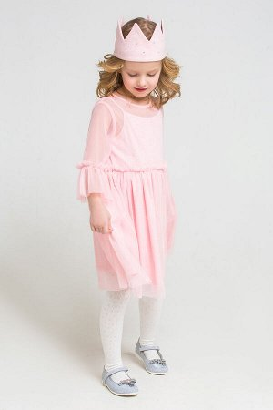 Платье(Осень-Зима)+girls (св.розовый меланж к223)