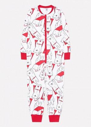 Комбинезон пижама Crockid К 6180 супермишки на белом