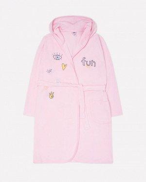 Халат для девочки Crockid КБ 5533 нежно-розовый