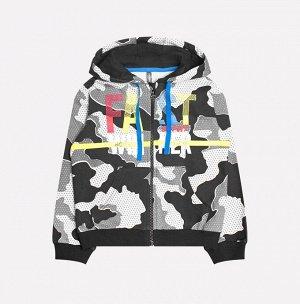 Куртка для мальчика Crockid К 300576 серый, камуфляж к1237