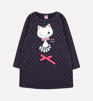 Платье для девочки Crockid К 5575 темно-серый, звезды