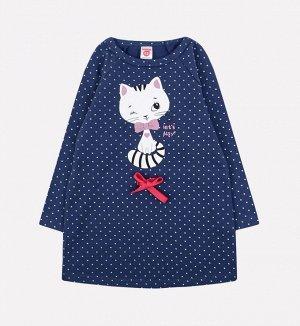 Платье для девочки Crockid К 5575 ультрамарин, горох