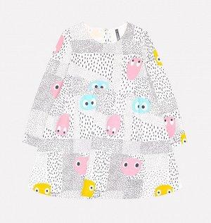 Платье для девочки Crockid КР 5559 смайлики на сахаре к225