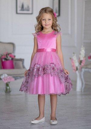 Сантана нарядное платье розовый