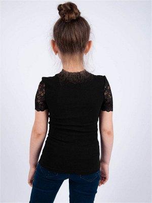 Черная Джемпер  1686, ластик хб 80% ПА 20%. Очень мягкий приятный к телу трикотаж. Цвет черный.