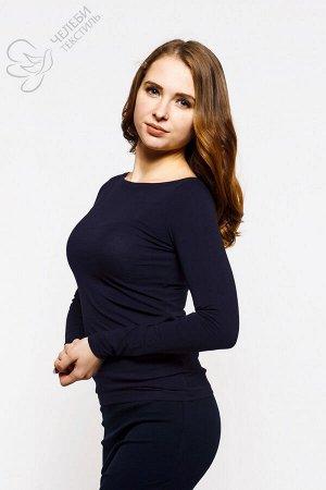 """Джемпер Джемпер женский с вырезом горловины """"лодочка"""" и длинным рукавом. Выполнен из гладкоокрашенной ткани, приятной к телу. Хорошо облегает фигуру. Ткань — Хлопок Супрем 36/1 Плотность — 160 г/м2 Со"""
