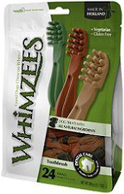 Whimzees VET лакомство для чистки зубов Дентал Браш для собак S 9 см 24 шт в пакете