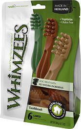 Whimzees лакомство для чистки зубов Зубная щетка для собак L 15 см 6 шт в пакете
