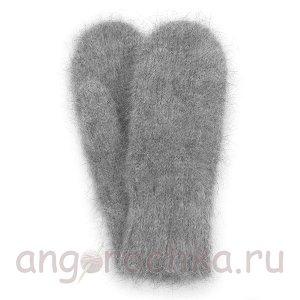Серые мужские пуховые варежки - 301.33