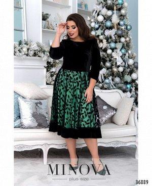 Платье №481-зеленый