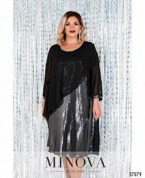 Платье №755-1СБ-черный