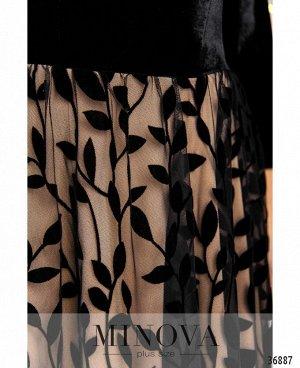 Платье №481-бежевый