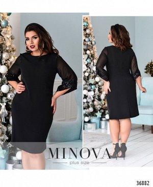 Платье №146Б-черный