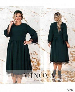 Платье №746-1СБ-темно-зеленый