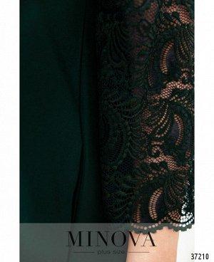 Платье №734-1СБ-темно-зеленый