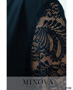 Платье №734-1СБ-темно-синий