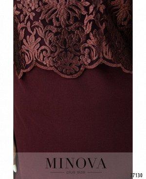 Платье №147СБ-бордовый