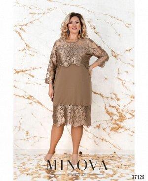 Платье №147СБ-бронзовый